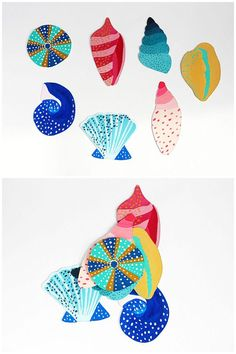 Pretty painted sea shell art project kids and adults will enjoy. Free Printable included.