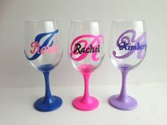 Custom-Initial-Monogrammed-Wine-Glass-Set-of-3-Glasses-Hand-Painted-Wine-Glass