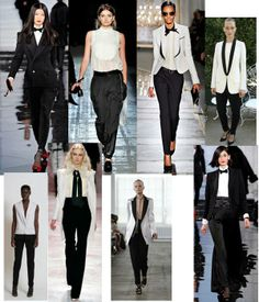 Women's Tuxedo Fashion Trend