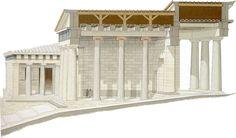 Propileos (reconstrucción de alzado) | Mnesicles | Arte griego, época clásica (s. V-IV a.C.)