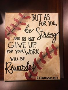 Golf Sayings Baseball Decor Bible quote 2 Chronicles - Original design on an canvas. 2 Chronicles is set on a beautiful, hand painted baseball. Perfect gift for the baseball player or fan in your life! Each painting made to order.