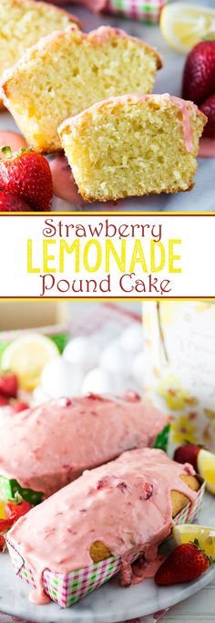 Strawberry Lemonade Pound Cake. Sweet and lemon-y with a strawberry glaze, this Strawberry Lemonade Pound Cake makes for the perfect treat, and is ideal for gifting too! #ad #CelebrateAmazingMoms  - Eazy Peazy Mealz