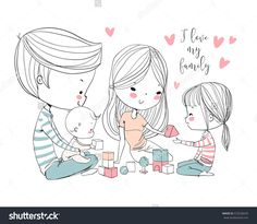 stock-vector-happy-family-mother-father-and-children-572538259.jpg (1500×1309)