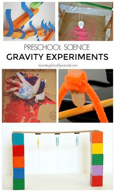 Add some STEM to your preschool day with these 7 gravity experiments. Hands-on science exploration! From Teaching 2 and 3 Year Olds