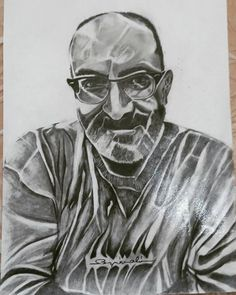 My friend..50x35 charcoal drawing