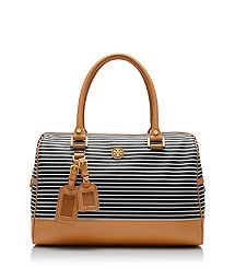 Nautical fun with VIVA SATCHEL from Tory Burch