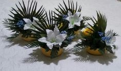 BIRDS OF PARADISE WEDDING Decor by Cole Creations (Tabletop arrangements/front)