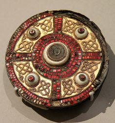 The Milton brooch, 7th c., Anglo-Saxon England, probably Kent