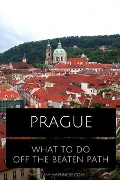 Don't let the crowds of Prague get you down! Here are 5 suggestions for things to do off the beaten path in Prague, including a day trip to Moravia.