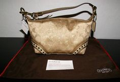 Coach Stud Lurex Top Handle Signature Handbag Wristlet Gold Metallic 41938   eBay