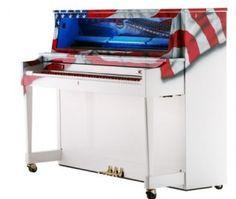 american flag piano