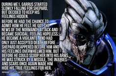 Tbh I didn't start really liking Garrus as a person until ME2, though I always had him on my squad because he was reliable and his stats balanced with mine. I wasn't intensely attached to anyone in 1 (except Joker) but when I started ME2 I was like </3 😭 I think the second game does a better job of immersing you than ME1.