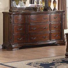 Coaster Fine Furniture Maddison Brown Cherry 9-Drawer Dresser 202263 #coasterfurnituredrawers