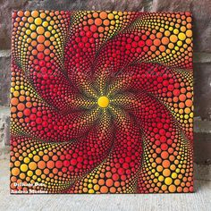 I've always loved the idea of playing with depth! I am really happy with the way this one turned out and I hope you enjoy it as well! Mandala Design, Mandala Art, Mandala Canvas, Mandala Painting, Mandala Pattern, Mandala Painted Rocks, Mandala Rocks, Dot Art Painting, Stone Painting