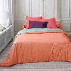La Redoute -  Soft And Smooth Combed Cotton Percale Duvet Cover - I like how they have mixed the colours