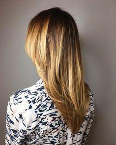17 Incredibly Gorgeous V-Cut Hair Shape Ideas Cool Haircuts For Girls, Haircuts For Long Hair, Long Curly Hair, Straight Hairstyles, Curly Hair Styles, Sleek Hairstyles, V Cut Hair, V Hair, Hair Cuts