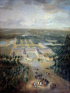 France, Versailles - Perspective view of the castle and gardens of Trianon by Corbis Versailles, Vaux Le Vicomte, Paris Art, Belle Photo, Les Oeuvres, 18th Century, Art Boards, Paris Skyline, Perspective