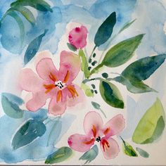 Original watercolor painting Spring Song