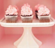 Pink cupcakes. Yum!