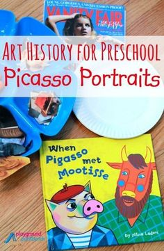 The next project in our Art History for Preschool series features Picasso!  Introduce your child to Picasso and Cubism, with this simple method for making Picasso Portraits