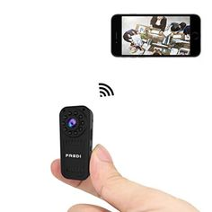 FREDI Hidden Camera HD Mini WiFi Camera spy Camera Wireless Camera for iPhone/Android Phone/iPad Remote View with Motion Detection(Support SD Card) Reflex Camera, Wireless Ip Camera, Wireless Security Cameras, Wireless Home Security Systems, Spy Camera, Security Cameras For Home, Security Alarm, Security Monitoring, Smartphone