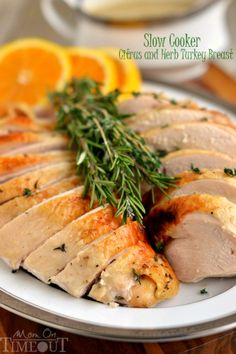 This Slow Cooker Citrus and Herb Turkey Breast is, hands down, the most amazing turkey you will...