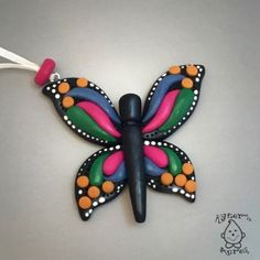 Polymer Clay Butterfly Pendant   CLICK for the FREE Polymer Clay Butterfly Tutorial by KatersAcres to make your own