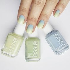 We're green with envy over this super cute ombre nail art look using chalet, going guru and saltwater happy!