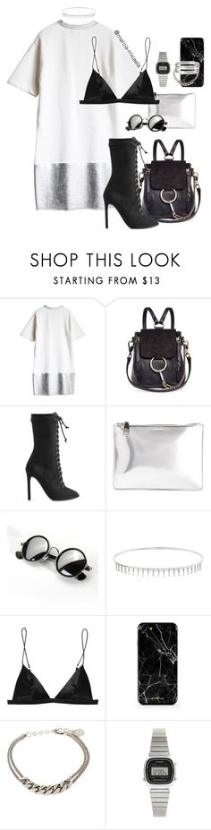 """• MONOCHROME OUTFIT •"" by marcia-micaela ❤ liked on Polyvore featuring Chloé, adidas Originals, Jil Sander, Suzanne Kalan, T By Alexander Wang, Mademoiselle Felee, Casio and Cartier"