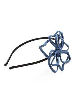 Denim Flower hairband