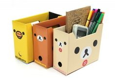 Material: Cardboard Size: ≈ (L)15.5cm x 6cm x (W)13cm Quantity: 1  Designs: - Kamonohashikamo (Yellow duck) - Rilakkuma (Brown bear) - Korilakkuma (Cream bear)  A random one will be sent to you. If you REALLY want to choose just contact me and i can try and send you the one you want.