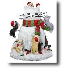 San Francisco Music Box Company - Cats Building a Snowman -... review | buy, shop with friends, sale | Kaboodle