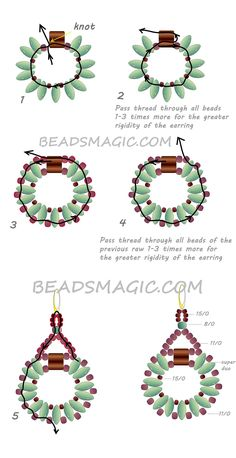 Free pattern for earringsSanremowith tila and superduo U need: seed beads 11/0 seed beads 15/0