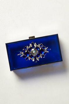 Cobalt Lucite Box Clutch #anthropologie #AnthroFave