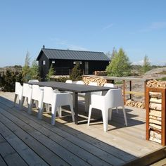 We have made this modern planktable to summer house in Vänö, Finland. Outdoor Furniture Sets, Outdoor Decor, Finland, Modern, Summer, House, Home Decor, Trendy Tree, Summer Time
