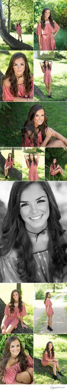 d-Squared Designs St. Louis, MO Senior Photography, Summer senior girl. Gorgeous senior. Summer senior outfit. Romper outfit. Selena Gomez lookalike.