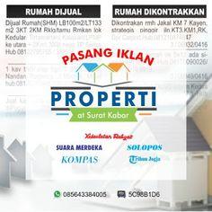 comma advertising: Pasang Iklan Rumah Dijual di Koran