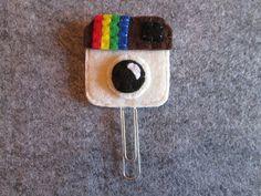 Instagram paper clip - Instagram bookmark - Felt bookmark - Graffetta con logo di Instagram  Segnalibro in di TinyFeltHeart