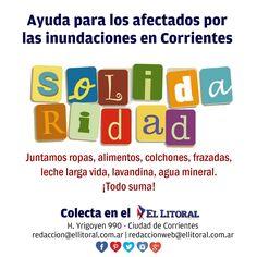 Colecta solidaria en el Diario El Litoral para los afectados por las inundaciones en #Corrientes | Enterate cómo ayudar en http://litor.al/colecta2015