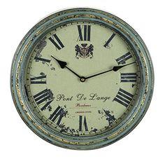 Benzara Metal Wall Clock A Vintage Metallic Clock *** Visit the image link more details.