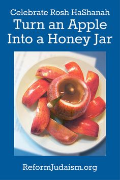What could be a better way to serve honey on Rosh HaShanah than inside an apple? How appropriate! Read on for instructions on how to make this little fruit bowl and then how to hold a honey tasting for the new year.