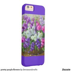 pretty purple flowers barely there iPhone 6 plus case