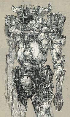 ArtStation - PAGE. 004, Hyun-Kyu Ahn Dark Fantasy Art, Dark Art, Character Art, Character Design, Graphic Novel Art, Isometric Art, Perspective Art, Mecha Anime, Futuristic Art