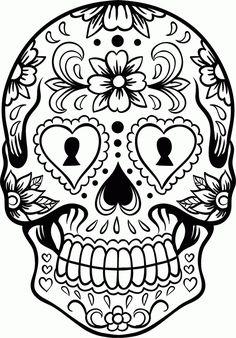 Extra Large Sugar Skull Version 6 Wall Vinyl Decal Sticker Art Graph…