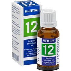 BIOCHEMIE Globuli 12 Calcium sulfuricum D 6:   Packungsinhalt: 15 g Globuli PZN: 08884599 Hersteller: Orthim KG Preis: 4,49 EUR inkl. 19…