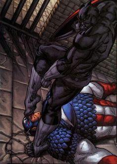 Black Panther vs Captain America