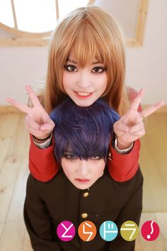 ♡ On Pinterest @ kitkatlovekesha ♡ ♡ Pin: Cosplay ~ Taiga & Ryuuji from Toradora ♡