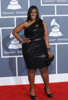 Mandisa♥ I love her dress! It looks like it's made out of garbage bags! It's awesome!!!