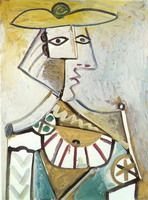 Pablo Picasso. Bust with a hat 1, 1971