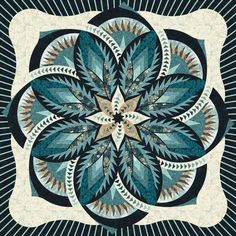 Check out this original color-way designed by Connie T. Sign up on www.quiltster.com to create your own. Lone Star Quilt, Star Quilts, Quilt Square Patterns, Vintage Rosen, History Of Quilting, Bargello Quilts, Cute Quilts, Flower Quilts, Tree Quilt